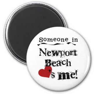 Alguien en la playa de Newport Imán Para Frigorifico