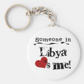 Alguien en Libia me ama Llaveros Personalizados