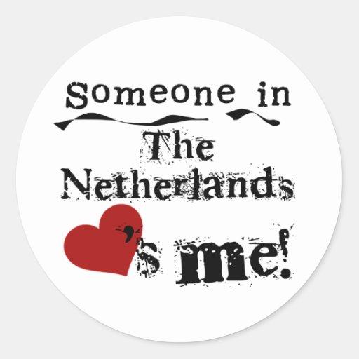 Alguien en los amores holandeses yo pegatinas redondas