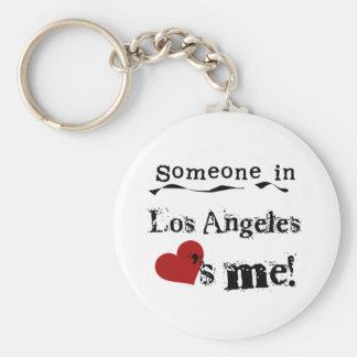 Alguien en Los Ángeles Llavero Redondo Tipo Pin