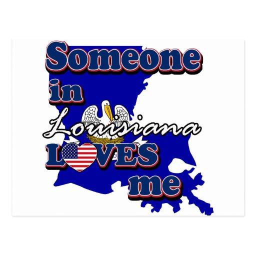 Alguien en Luisiana me ama Tarjeta Postal
