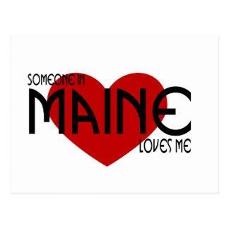 Alguien en Maine me ama Postales
