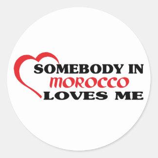 Alguien en Marruecos me ama Etiqueta Redonda