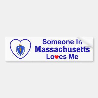 Alguien en Massachusetts me ama Pegatina Para Auto
