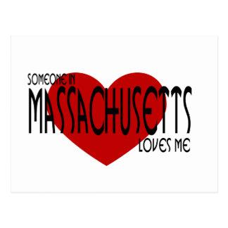 Alguien en Massachusetts me ama Tarjeta Postal