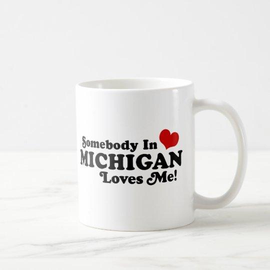 Alguien en Michigan me ama Taza De Café