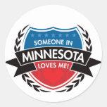 Alguien en Minnesota me ama Pegatinas