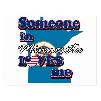 Alguien en Minnesota me ama Postal