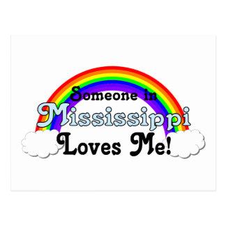 Alguien en Mississippi me ama Postal