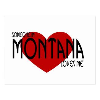 Alguien en Montana me ama Tarjeta Postal