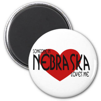 Alguien en Nebraska me ama Imán Redondo 5 Cm