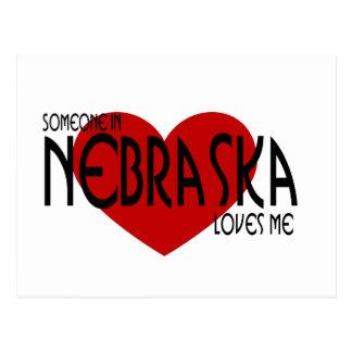 Alguien en Nebraska me ama Tarjeta Postal