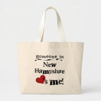 Alguien en New Hampshire me ama Bolsa De Tela Grande