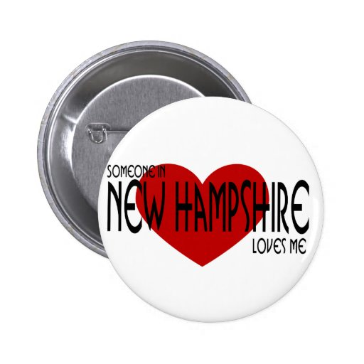 ¡Alguien en New Hampshire me ama! Pins