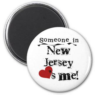 Alguien en New Jersey me ama Imán De Frigorifico