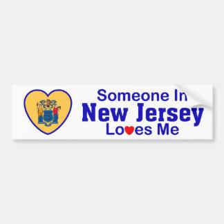 Alguien en New Jersey me ama Pegatina Para Auto