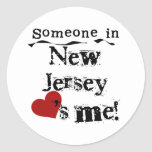 Alguien en New Jersey me ama Pegatinas Redondas