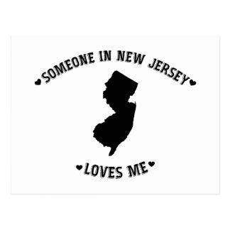 Alguien en New Jersey me ama Postales