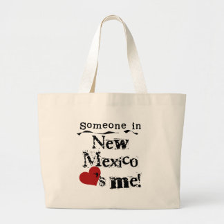 Alguien en New México me ama Bolsa De Tela Grande