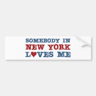Alguien en Nueva York me ama Pegatina Para Auto