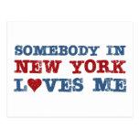 Alguien en Nueva York me ama Postal