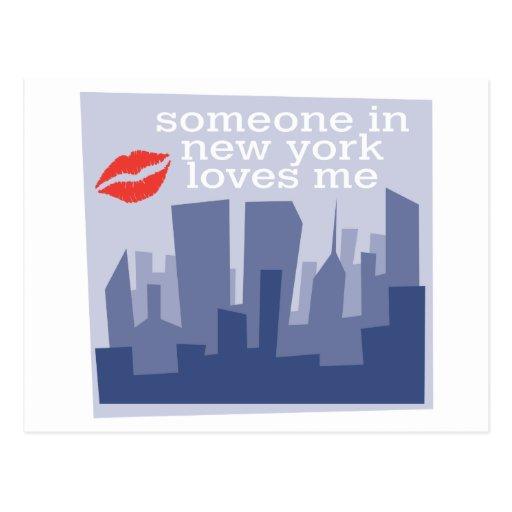 Alguien en Nueva York me ama Postales