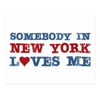 Alguien en Nueva York me ama Tarjetas Postales