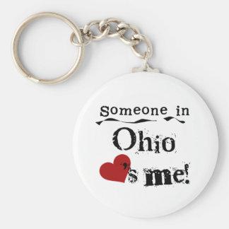 Alguien en Ohio me ama Llavero Redondo Tipo Pin