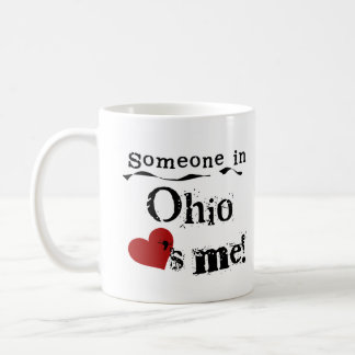 Alguien en Ohio me ama Taza Básica Blanca