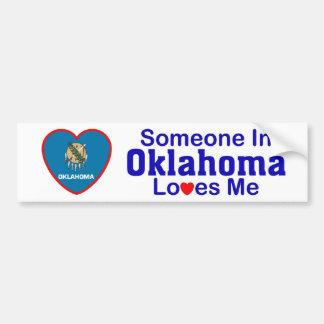 Alguien en Oklahoma me ama Pegatina De Parachoque