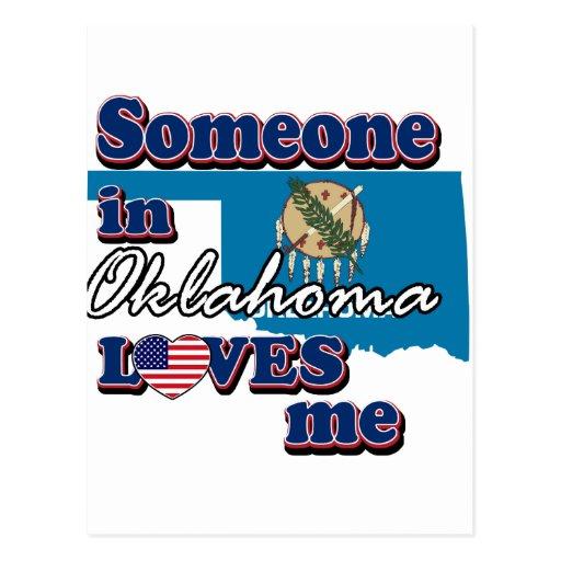 Alguien en Oklahoma me ama Tarjetas Postales