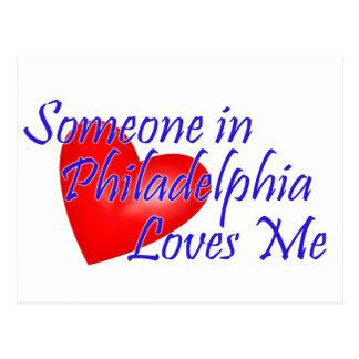 Alguien en Philadelphia me ama Tarjeta Postal