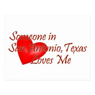 Alguien en San Antonio Tejas me ama Tarjeta Postal
