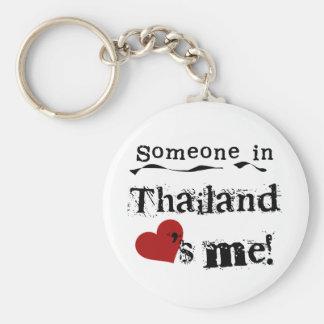 Alguien en Tailandia me ama Llavero Redondo Tipo Pin