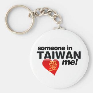¡Alguien en Taiwán me ama! Llavero Redondo Tipo Pin