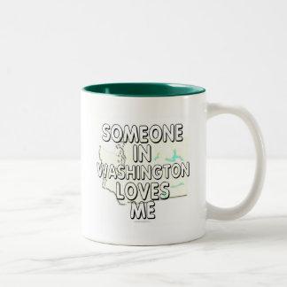 Alguien en Washington me ama Taza Dos Tonos
