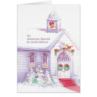 Alguien especial en el servicio de dios tarjeta de felicitación