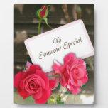 Alguien especial - rosas placa para mostrar
