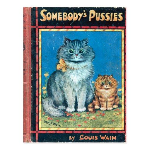 Alguien gatitos del artista Louis Wain Postales
