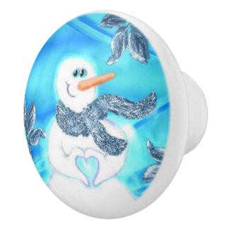 Alguien le ama botón de cerámica del muñeco de pomo de cerámica