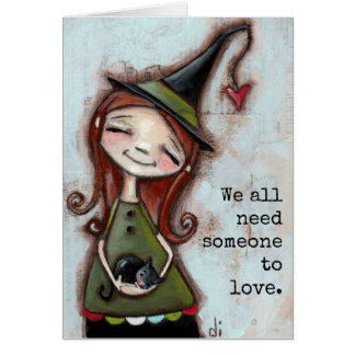 Alguien para amar - la tarjeta de felicitación