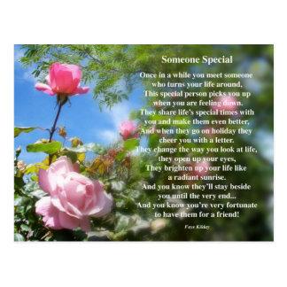 Alguien postal especial del poema de la amistad
