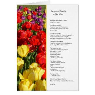 Alguien tan hermoso como usted, mamá… tarjeta de felicitación