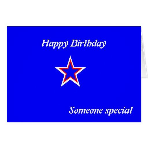 alguien tarjeta de cumpleaños especial