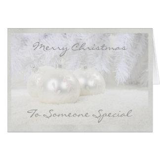 Alguien tarjeta de Navidad especial