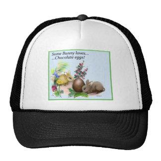 algún conejito ama el huevo de chocolate gorro de camionero