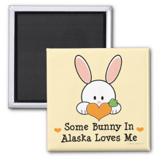 Algún conejito en Alaska me ama imán