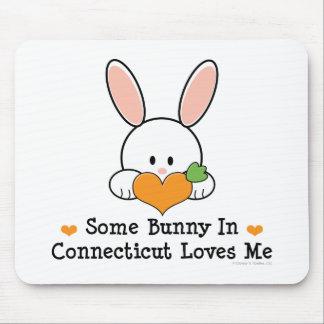 Algún conejito en Connecticut me ama Mousepad Alfombrilla De Raton