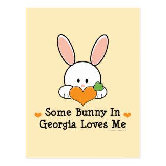 Algún conejito en Georgia me ama postal