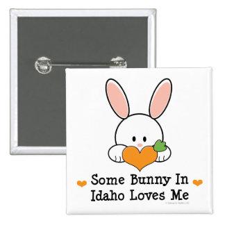 Algún conejito en Idaho me ama botón Pin